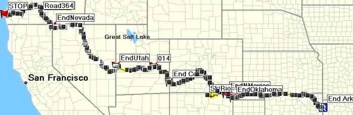 trans america trail oklahoma map Tat West Oklahoma